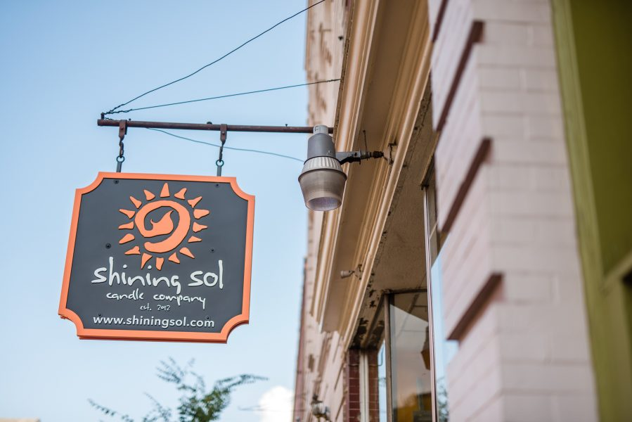 shining sol sign tcob 1018 historic downtown manassas