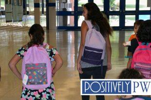 Hampton Middle School, backpacks,