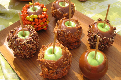 Halloween caramel apples, October, Firehouse Foodie