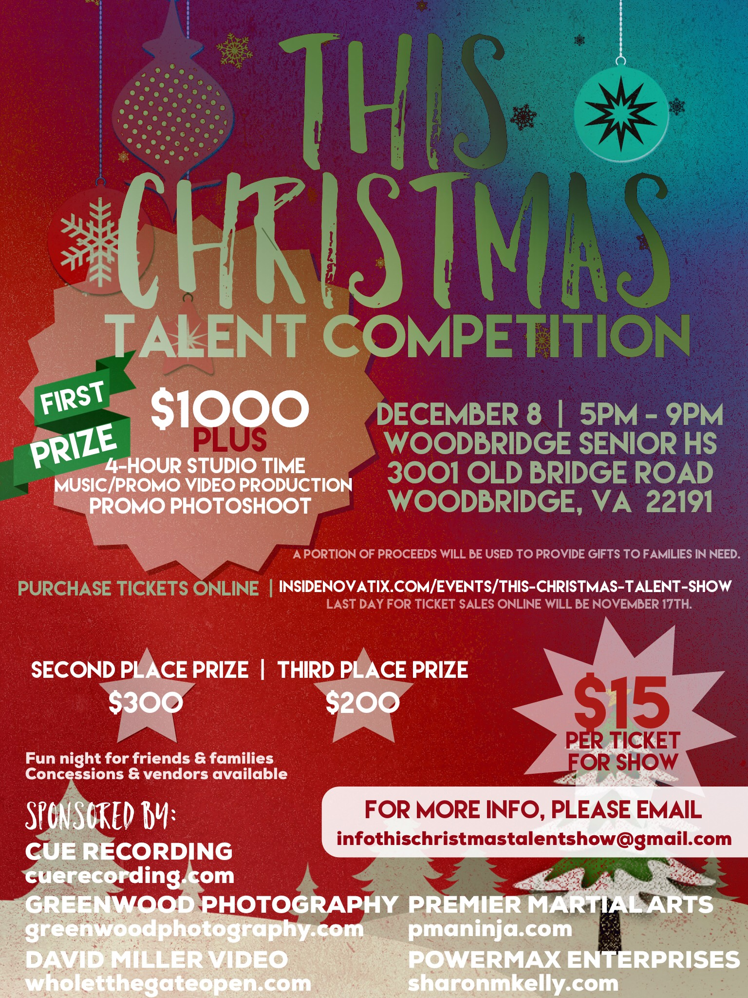 this christmas talent competition will be held on dec 8 at woodbridge senior high school