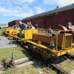 yellow train, Rappahannock Railroad Museum, Fredericksburg VA