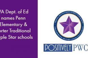 Purple Star Schools, Penn Elementary, PWCS, Porter Traditional